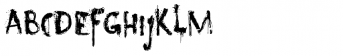 Nyctophobia Font LOWERCASE