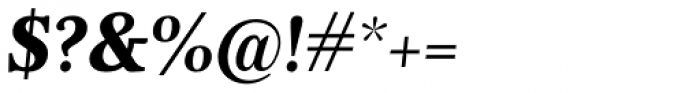 Nyte ExtraBold Italic Font OTHER CHARS