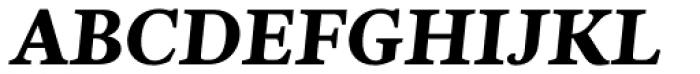 Nyte ExtraBold Italic Font UPPERCASE