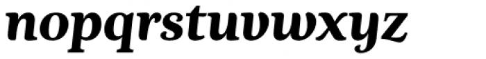 Nyte ExtraBold Italic Font LOWERCASE