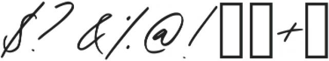 Oakley Script Regular otf (400) Font OTHER CHARS