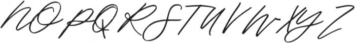 Oakley Script Regular otf (400) Font UPPERCASE