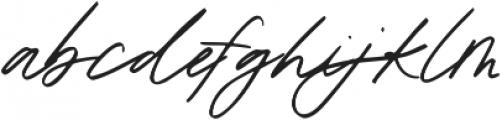 Oakley Script Regular otf (400) Font LOWERCASE