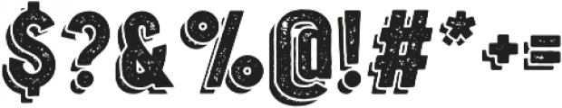 Oakwood Rough Shadow otf (400) Font OTHER CHARS