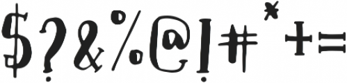 Oatmeal Jack Script otf (400) Font OTHER CHARS