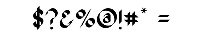 Oak Wood Font OTHER CHARS
