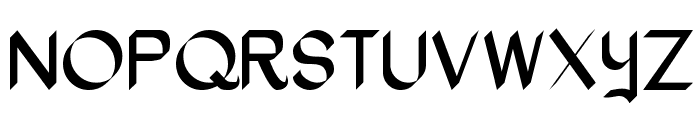 Oak Wood Font UPPERCASE