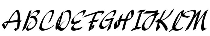 Oakland Font UPPERCASE