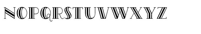 Oak Park Tripped Font UPPERCASE