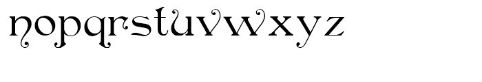 Oaken Bucket NF Regular Font LOWERCASE