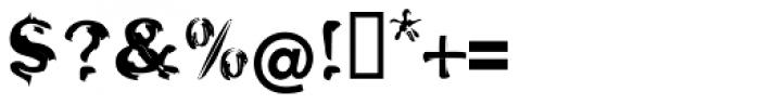 Oak EF Engraved Font OTHER CHARS