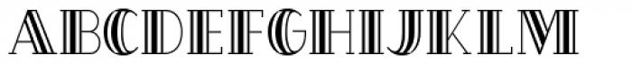 OakPark Striped Font UPPERCASE