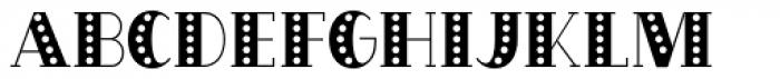 OakPark Striped Font LOWERCASE