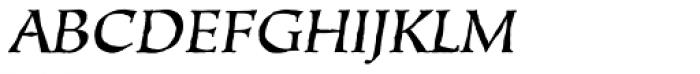 Oakgraphic Italic Font UPPERCASE