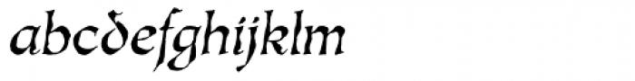 Oakgraphic Italic Font LOWERCASE