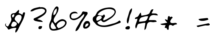 Oakland Regular Font OTHER CHARS