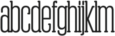 Obcecada Serif Bold ttf (700) Font LOWERCASE