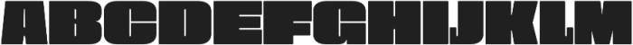 Obesum Caps Extra Black Expanded otf (900) Font LOWERCASE