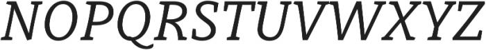 Obla Italic otf (400) Font UPPERCASE