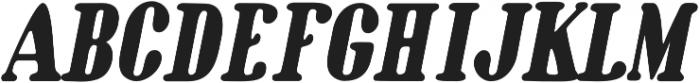 Oblique Bold otf (700) Font UPPERCASE