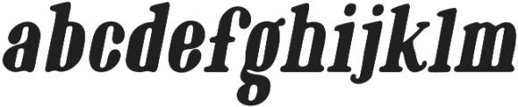 Oblique Bold otf (700) Font LOWERCASE