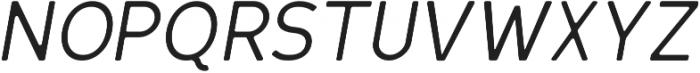 Oblique Round otf (400) Font UPPERCASE