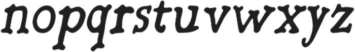 Oblique otf (700) Font LOWERCASE