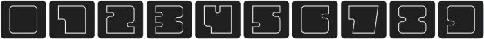Oboe Outline Framed Regular otf (400) Font OTHER CHARS
