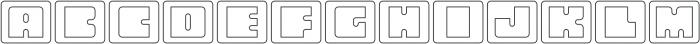 Oboe Outline Framed Regular otf (400) Font UPPERCASE