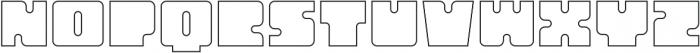 Oboe Outline Regular otf (400) Font LOWERCASE