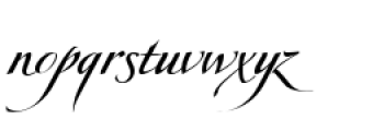 Obsession D Font LOWERCASE