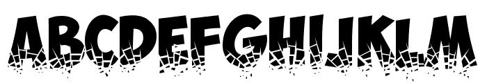 Obelix Pro Broken Font UPPERCASE