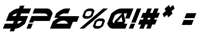 Oberon Condensed Italic Font OTHER CHARS