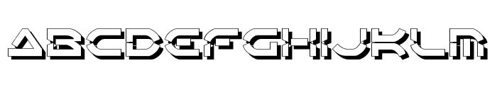 Oberon Deux Shadow Font UPPERCASE