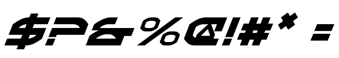 Oberon Italic Font OTHER CHARS