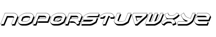 Oberon Shadow Italic Font UPPERCASE