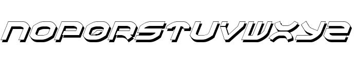 Oberon Shadow Italic Font LOWERCASE