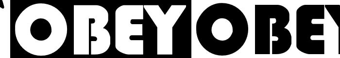 ObeyGiantPosterCaps Font UPPERCASE