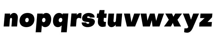 Objectivity-BlackSlanted Font LOWERCASE