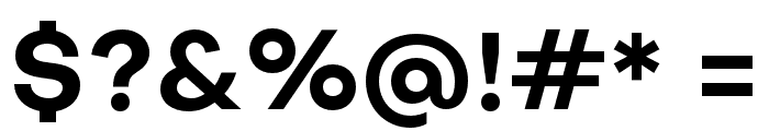 Objectivity-Bold Font OTHER CHARS