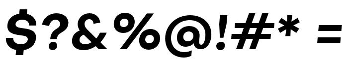 Objectivity-BoldSlanted Font OTHER CHARS