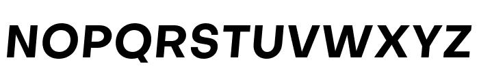 Objectivity-BoldSlanted Font UPPERCASE