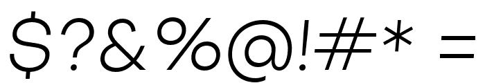 Objectivity-LightSlanted Font OTHER CHARS