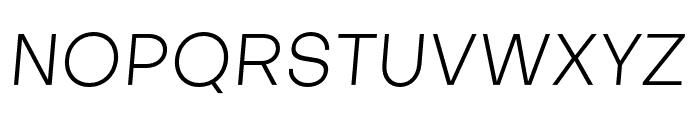 Objectivity-LightSlanted Font UPPERCASE