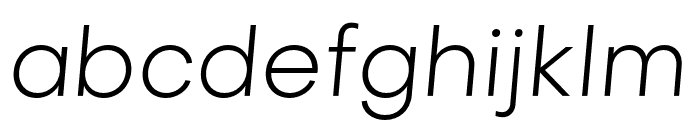 Objectivity-LightSlanted Font LOWERCASE