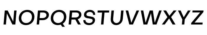 Objectivity-MediumSlanted Font UPPERCASE