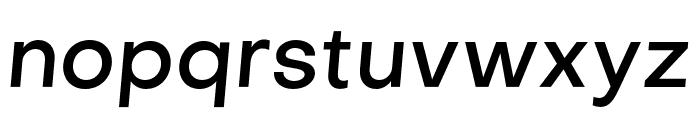 Objectivity-MediumSlanted Font LOWERCASE