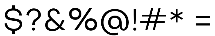 Objectivity-Regular Font OTHER CHARS