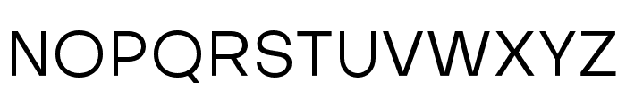Objectivity-Regular Font UPPERCASE