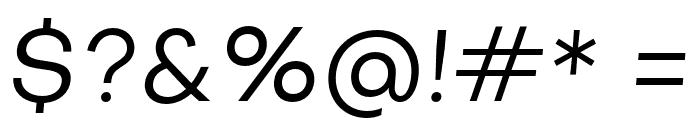 Objectivity-RegularSlanted Font OTHER CHARS